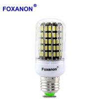 Bulbos Foxanon E27 E14 Lámpara LED 220V 230V Luz de maíz Lampada 5733 Chip 30 - 136leds Bombilla de aluminio PCB más brillante que 5730 4014 SMD