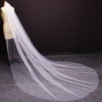 Morbido tulle lungo velo da sposa con pettine di alta qualità Pianura molto morbida Avorio Bianco Cattedrale Avorio Bridal Veil Accessori da sposa