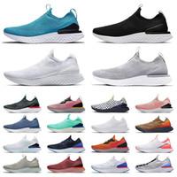 Nike Epic React Flyknit V2 V1 Fly knit Flynit الرجال الاحذية جميع أبيض أسود رمادي فاتح ملكي أخضر بورجوندي أحذية رياضية للرجال والنساء  أحذية