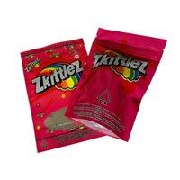 Beutel Zkittelz Packtasche Essbare Verpackung Sourbeutel Mylar mit Tränenkerch und klares Fenster auf der vorderen Reißverschluss