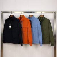 CPTopstoney 2020SS Spring and Outono Europeu e Americano Estilo Half Zipper Konng Gong Casual Casaco com Tendência Trendy Trend Casaco