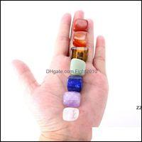 Arts And Arts, Crafts Gifts Home & Gardennatural Crystal Chakra Stone 7Pcs Set Natural Stones Palm Reiki Healing Crystals Gemstones Energy H