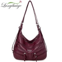 Lanyibaige New Woman Bolsos de Crossbody Cuero de Lujo Bolsos Soft Bags Diseñador Famosa Marca Bolsas Para Mujeres 210226