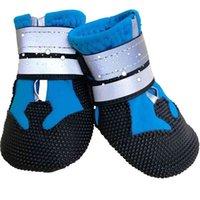Chaussures pour animaux de compagnie pour grands chiens Spring chaleureux Bottes réfléchissantes à l'usure antidérapante Husky Husky Big Dog 210914
