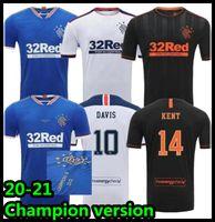 Männer + Kinder Kits Champions 55 Version Fussball Trikots 2020 2021 Goldson Defoe Hagi Morelos Kent Tavernier Arfield Davis Football Shirt