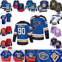 St. Louis Blues Ice Hóquei Jersey Mikkola Perron Perunovich Poganski Sanford SanDella Scandella Sundqvist Thomas Walman Gassoff Plager Plager Tutter