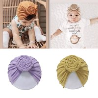 Beanies 2021 Baby Accessories For Born Toddler Kids Girl Boy Turban Cotton Beanie Hat Winter Cap Knot Solid Soft Caps