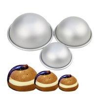 Mini Alüminyum Yarımküre Top Kek Kalıpları Tavalar Yarım Küre Banyo Bomba Pişirme Kalıp Pasta Kalıpları, 3 Farklı Boyut MY-INF0514 132 S2