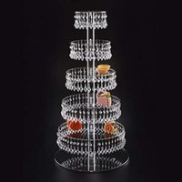 Other Festive & Party Supplies 6-layer Acrylic Cake Stand With Crystal Pendant Wedding Holiday Birthday Candy Dessert Cupcake