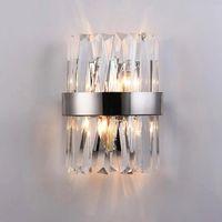 New Modern Crystal Wall Lamp Sconce LED Lampada da interno Lampada per la decorazione domestica Camera da letto Specchio del corridoio del bagno
