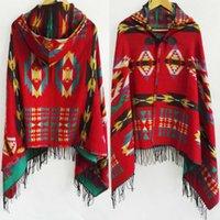 가을과 겨울 보헤미안 국가 바람 벨트 모자 케이프 격자 무늬 자카드 두꺼운 스카프 에어 컨디셔닝 목도리
