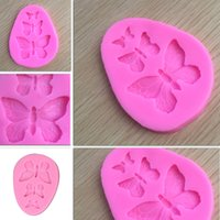Chocolate Ice Cream Silicone Molds Diy Cake Baking Moulds Simulation Butterfly Cakes Food Grade Decoration Kitchen Solid Color BH4830 WLY