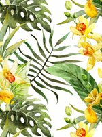 Wallpapers Forest Peel And Stick Floral Wallpaper Palm Banana Leaf White Greeb Yellow Removable Waterproof Paper For Home Boho Decorations