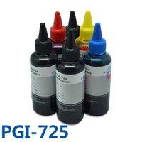 잉크 리필 키트 6x100ml PGI725BK CLI726BK C M Y Canon Pixma MG8170 / MG8270 / MG6170 프린터 PGI-725 용 고품질 CISS