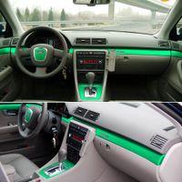 لأودي A4 B7 2002-2007 الداخلية لوحة التحكم المركزية مقبض الباب ألياف الكربون ملصقا الشارات سيارة التصميم الملحقات