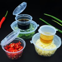 Storage Bottles & Jars Clear Food Small Sauce Containers Package Box Lid Portable Disposable Plastic Cups Transparent Takeaway Cup