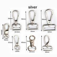 4pcs / pack metalchiaccendatore in metallo clip girevole trigger fibbia per cani con chiave portachiavi keyhooks anello di fissaggio fai da te craft artigianale chiusura 7 dimensioni