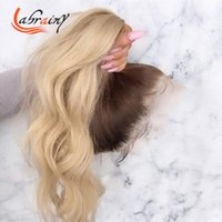 Lace Wigs Loose Curly HD Transparent Frontal Glueless Pre Plucked 13x6 Ombre 4T613 Front Human Hair Highlight Blonde