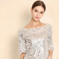Caldo in Europa e America New Women Tops Top e Camicette Paillettes Ricamo Five Point Sleeve Shirt casual Shirt casual Plus Size