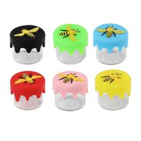 silicone wax container storage Empty Bottle glass nonstick jar held mini oil jars the cute bee shape