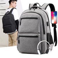 Backpack 17 Inch Laptop With Charger Usb Men Big Backpacks School Casual Business Bag Male Travel Bagpack