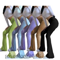 The Latest Design Of Women's flared Trousers And Fashion solid color Casual High-Waisted Trousers 5 colors