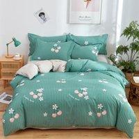 Bedding Sets Home Textile Cyan Cute Cat Kitty Duvet Cover Pillow Case Bed Sheet Boy Kid Teen Girl Covers Set King Queen Twin
