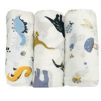 kids manta 100% fibra de bambú bebé swaddle recién nacido muselina mantelas de baño gasa de baño envoltura infantil sleepsack mochila cubierta de cochecito