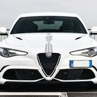 ل Alfa Romeo 159 147 GT Giulietta Stelvio 4C Mito 156 Giulia Sportiva اكسسوارات السيارات سيارة هود ملصقات السيارات بونيه الشارات