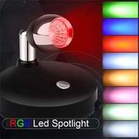 Other LED Lighting Battery Operated Wireless Spotlight Dimmable Puck Light With Remote Control Small Uplights Focus For Display Painting Pic