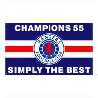 Kostenloser DHL-Versand Kundenspezifische Flagge 3X5FT / 90x150cm Ranger Fußballverein FC Loyal Champions 55 Flaggen Banner für den Außensport DWD5394