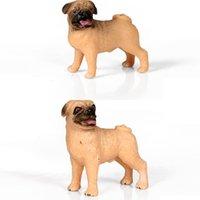 محاكاة الكلب تمثال الفرنسية الملاكم البلدغ الذهبي المسترد الحيوانات الأليفة نموذج عمل أرقام pvc المنزل الديكور التعليمية أطفال اللعب C0223