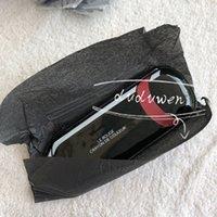 24x8cm C Mode glänzend Klassische Seltenery Case Reißverschluss Make-up Aufbewahrungstasche Büro Lippenstift Sonnenkarten Stift Bleistift Taschen VIP