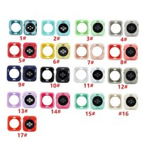 17 colors Colourful Watch Cover Series 1 2 3 4 5 Soft TPU Case for Iwatch 38mm 40mm 42mm 44mm Screen Protector Frame