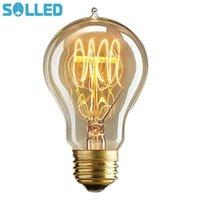 Ampuller Retro Edison Tungsten Filament Ampul Yaratıcı LED E27 40 W 220 V Işık Akkor Sivri İpucu