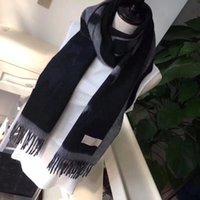 Mais novo de boa qualidade clássico designer inverno cashmere Lenço longo para mulheres e homens moda meninas letras quentes impressas cáqui preto lenços xales anéis de pescoço 180x70cm