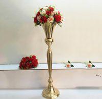 98 cm Tall Vintage Flower Vase Vaso Pentola Decorazione Partito Metallo Tromba Matrimonio Matrimonio Cerimonia Anniversario Centerpiece Decorazioni NHF11121