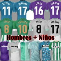 رجل + أطفال 20 21 Real Betis Soccer Jersey Joaquin Loren Boudebouz Barstra Football Shirts Home Thouse 3rd 4th Training Suit Attramorative Edition Fekir 8