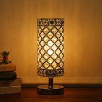 Cristal de Tomshine ao lado da mesa da lâmpada de mesa Luz de luz decorativa de cristal lâmpada para quarto sala de jantar sala de café