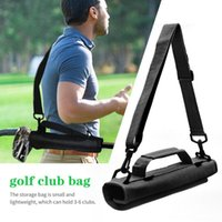 Golf Bags Mini Lightweight Nylon Club Carrier Bag Carry Driving Range Travel Training Case With Adjustable Shoulder Straps