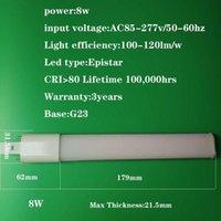 Lâmpadas 8W G23 LED PL Bulbo Base de 2 pinos Base Horizontal Luz 26W CFL Compact Fluorescent Substituição