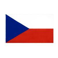 Bandeira da República Checa Grande 3x5 Ft Foot Czechia National Bandeiras Banner 90 * 150 cm Poliéster com bronze ilhós home jardim parede decoração de barco