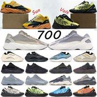 Kanye 700 V2 uomo scarpe da corsa donne luminose blu mnvn crema solare solido grigio utilità maschile maschile sport sneaker allenatore all'aperto