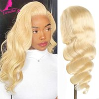 Lace Wigs 613 Blonde Front Wig Human Hair Brazilian Body Wave Closure 30 Inch Pre Plucked Glueless Transparent