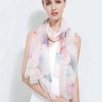 Sciarpe Donne Girls Fashion 100% Real Mulberry Sciarpa Sciarpa Sciarpa Scialle Sarongs Sarongs 180 * 110cm misto 10 pz / lotto # 4106