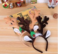 New Christmas Headband Hat Fancy Dress Hat Reindeer Antlers Santa Xmas Kids Baby Girls Adult Novelty Hairwear For New Year Gift YHM17 ZWL