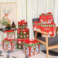 3 unids / lote DIY Regalo de Navidad Caja de regalo Familia Candy Chocolate Decoración de Navidad Personalidad Regalo Embalaje Ventana de Navidad Porps DWF7352