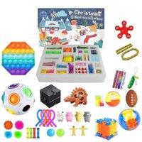 새로운 FIDGET 장난감 블라인드 박스 출현 캘린더 크리스마스 반죽 음악 선물 상자 카운트 다운 2021 어린이 선물 파티 호의