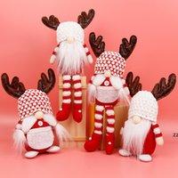 Natal sem rosto gnomo santa ornamento decoração de boneca para casa presentes pingente gota drop ornamentos suprimentos hwa9123