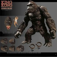 MEZCO AND King Kong-Schädel-Insel Gorilla Neues bewegliches Puppenmodell